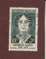 1112 De 1957 - Oblitéré - George Sang . Célébrité Du XIIIè Au XIXè Siècle - France