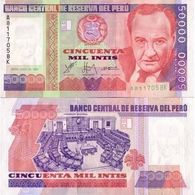 Billet Pérou 50 000 Intis - Pérou