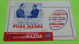 Buvard - PILE MAZDA - état D'usage : Voir Photos - 20.5x13.5 Environ -  Année 1954 / 15 - Accumulators