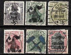 126 -  GERMANY - 1910-20 - UNKNOWN BOGUS OVERPRINTS - FORGERIES, FALSES, FALSCHEN, FAKES, FALSOS - Sammlungen (ohne Album)