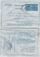 Belgium 1950 Brussels Metallurgy Industry Aerogramme To Congo Belge - Stamped Stationery