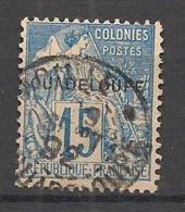 Guadeloupe - 1891 - N°Yv. 19 - 15c Bleu - Oblitéré / Used - Usados