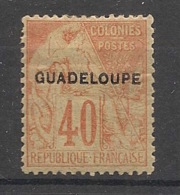 Guadeloupe - 1891 - N°Yv. 24 - 40c Rouge-orange - Neuf * / MH VF - Nuevos