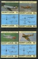 St. Lucia 1985 World War II Aircraft Aviation Sc 762-65 MNH # 701 - Airships