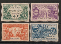 Guadeloupe - 1931 - N°Yv. 123 à 126 - Série Complète - Exposition Coloniale - Neuf * / MH VF - Ungebraucht