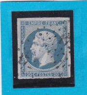 N° 14A F Bleu Laiteux    PC  1727    LILLE  ( 57 )   NORD  -  REF 14112 - 1853-1860 Napoleon III