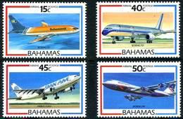 Bahamas 1987 Airliners Avions De Ligne Boeing 737 Bahamas Air Boeing 757  Airbus A300 Boeing 747 British Airways - Aerei