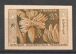 A0F - 1958 - N°Yv. 67 - Bananes - Essai De Couleur - Non Dentelé / Imperf. - Neuf * / MH VF - Neufs