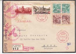 Guerre 1940/45       Lot    De    18     Enveloppes Vers La Belgique  10 Scan - Guerra 40 – 45