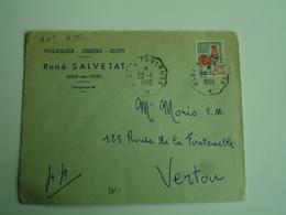Sur Enveloppe Commerciale Lisle Sur Tarn Salvetat Volailes Albi A Toulouse Cachet Ambulant Convoyeur Poste Ferroviaire - Postmark Collection (Covers)