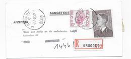 1976 Recommandé ETIKET BANK VAN PARIJS EN NEDERLANDEN BRUSSEL (91,50 Bfr ) Verso BRUGGE ( 60 Bfr ) ZEEBRUGGE - 1970-1980 Elström