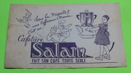 Buvard - Cafetière SALAN - état D'usage : Voir Photos - 21x13.5 Environ - Vers Année 1960 - Koffie En Thee