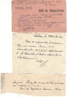 Bon De Réquisition M.U.R. -  F.F.I. Pour Une Voiture Simca 6 - 12 Septembre 1944 - FFI De Saône Et Loire - Historical Documents