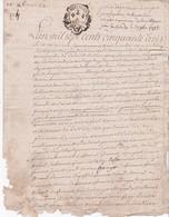 GENERALITE De BRETAGNE - DEUX SOLS - 1 Feuillet - 1753 - Paroisse De HENANBIHEN - Château De VILLAJOSSE - Cachets Généralité