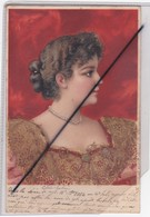 Jolie Visage De Femme ,ajout Paillettes ,Carte écrite En Suisse Porrentruy (carte Précurseur De 1901) - Femmes