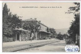 11637  FRD83 SOLLIES PONT INTERIEUR DE LA GARE  TBE - Sollies Pont