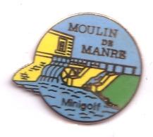 F478 Pin's Village Manre Ardennes Moulin Mil Mini Golf Qualité Egf Version Jaune  Achat Immédiat Immédiat - Golf