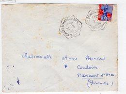 Cachet Hexagonal GEMOZAC  CHARENTE-MARITIME  CP N°5 - 1921-1960: Periodo Moderno
