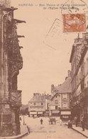 SAINT-LO (50). Rue Thiers Et Chaire Extérieure De L'Eglise Notre Dame. Magasins, Attelages - Saint Lo