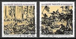ALLEMAGNE  /  DDR   -   1971.  Y&T N° 1345 / 1346 Oblitérés.   Commune  De  Paris. - [6] République Démocratique
