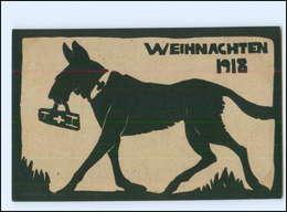 XX008909/ Weihnachten 1918 Mobilmachung-Ausschuß Rotes Kreuz Sanitätshund WK1 AK - Guerra 1914-18