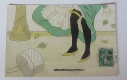 Künstlerkarte, Frauen, Mode, Strumpfband, Schachtel, Odette, 1909  ♥  (82) - Illustrateurs & Photographes