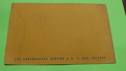 Buvard - LABORATOIRE SERVIER à ORLÉANS - état D'usage : Voir Photos - 21x13.5 Environ - Vers Année 1960 / 47 - Drogheria