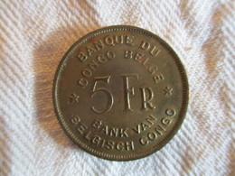 Congo Belge 5 Francs 1947 - Congo (Belgisch) & Ruanda-Urundi
