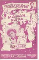 """""""Maman... Papa... De Georges Brassens Créée Par Patachou. - Partitions Musicales Anciennes"""