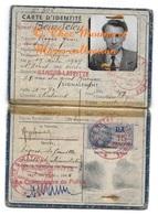 BEURDELEY ROGER ORFEVRE NE A ST DENIS HABITE MAISONS LAFFITE CARTE D IDENTITE 1945 FISCAL DA 15 FRANCS - Documents Historiques