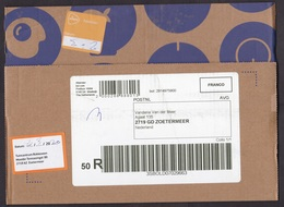 Netherlands: Parcel Fragment (cut-out), 2020, Postage Paid, 2x Label, Not At Home Pick Up At Garden Shop (traces Of Use) - 2013-... (Willem-Alexander)