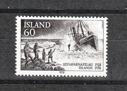 Islanda  - 1978. Salvataggio Marittimo. Maritime Rescue. MNH - Transportmiddelen