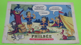 Buvard - Pain D'épice PHILBEE - Scout Ours Lapin - état D'usage : Voir Photos - 21x13.5 Environ - Vers Année 1960 - Pain D'épices