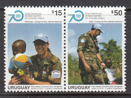 2015 Uruguay UN Peacekeeping Complete Pair  MNH - Uruguay