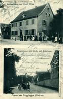 Buggingen Grüss Aus.. Allemagne Restaurant Albert Wick , Kirche Und Schulhaus - Other