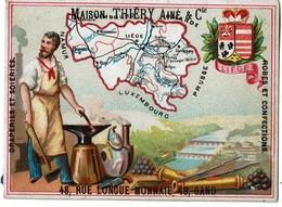Chromo Provincede LIEGE - Maison Thiéry Ainé & Cie 48 Rue Longue Monnaie GAND - 2 Scans - Otros