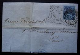 Great Britain, England 1890 National Bank, Letter To Paris France - 1840-1901 (Regina Victoria)
