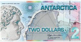 ANTARCTICA  TWO  DOLLAR 2007 FANTASY ISSUES  COL. ANT-016  UNC - Andere