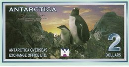 ANTARCTICA  TWO  DOLLAR 1999 FANTASY ISSUES  COL. ANT-008  UNC - Andere