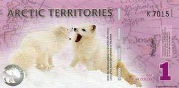 ARCTIC TERRITORIES ONE  DOLLAR 2012 FANTASY ISSUES  COL. ARC-01  UNC - Andere