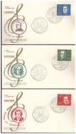 Bund (007772)  5 Belege FDC Mit Einzelmarken Aus Block 2 (Bethovenblock) Mit SST Forchheim Am 8.9.1959 - BRD