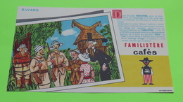 Buvard - Café FAMILISTÈRE - Album Collecteur D'images - Etat D'usage : Voir Photos - 20x12 Environ - Vers Année 1950 - Café & Thé