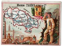 Chromo Province Du HAINAUT - Maison Thiéry Ainé & Cie 48 Rue Longue Monnaie GAND - 2 Scans - Otros