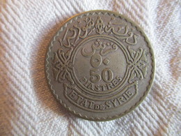 Syria: 50 Piastres 1929 (silver) - Syrie