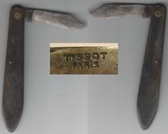 Canif Coupe Papier TISSOT PARIS. Manche Corne. - Letter-opener
