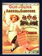 Advertising Cardboard, Cartoncino Pubblicitario- Olio D'oliva Agnesi & Giaccone, Oneglia. Dim.110mm X153mm. - Cartoncini Da Visita