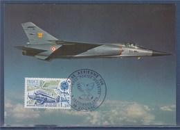 = Base Aérienne 709 Journée Portes Ouvertes Cognac 9.9.79 CP Mirage F1 Timbre Europa 2046 Aviation Postale Intérieure - Marcophilie (Lettres)