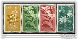 GUI391-L2190TVEPT.España.Spain . Espagne  FLORA.GUINEA  ESPAÑOLA.1953.(Ed  391/4**) Sin Charnela.MAGNIFICO - Piante Velenose