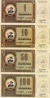 BOSNIA-ERZEGOVINA LOTTO 1,10,50,100 KUBURA  2002 FANTASY ISSUES UNC - Bosnië En Herzegovina