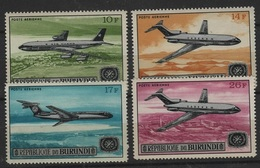 TRANS 63 - BURUNDI 4 Val. Neufs Poste Aérienne Avions - Burundi